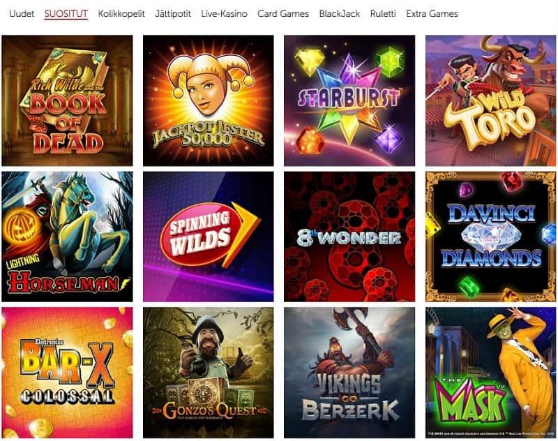 Casino RedKings pelivalikoima