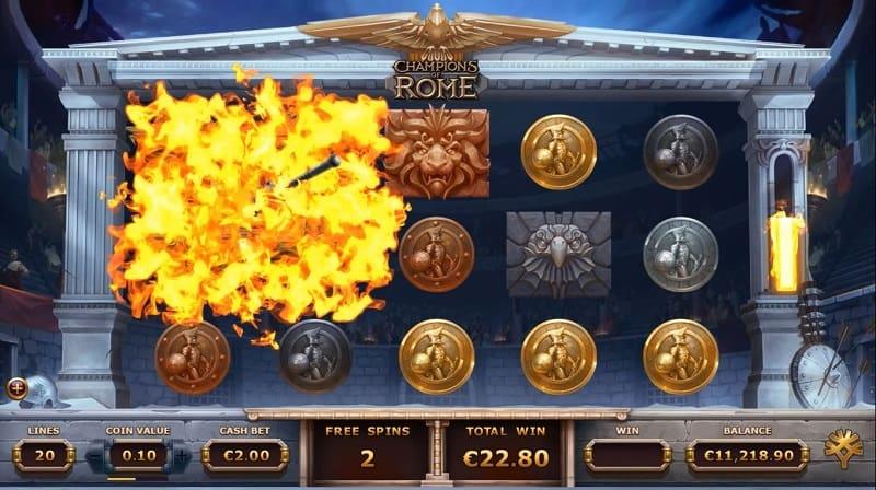 Champions of Rome ilmaiskierrokset