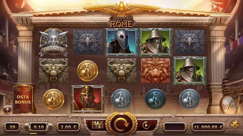 Champions of Rome -kolikkopeli