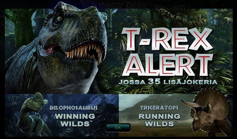 Jurassic Park ominaisuudet