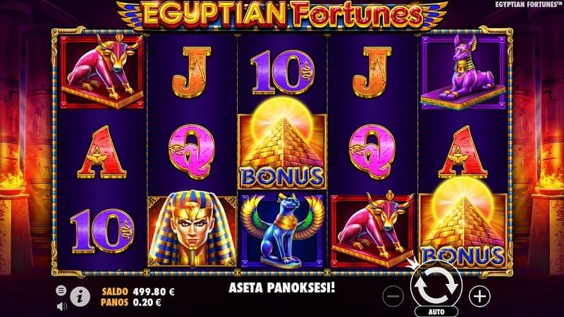 Egyptian Fortunes -kolikkopeli