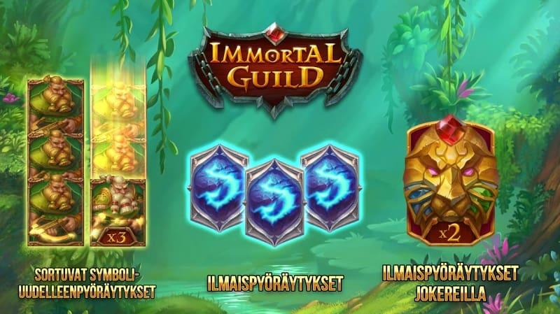 Immortal Guild -pelin toiminnot