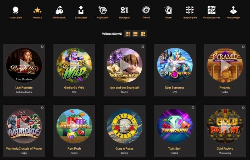 Jackpot Village Casinon suosituimmat pelit