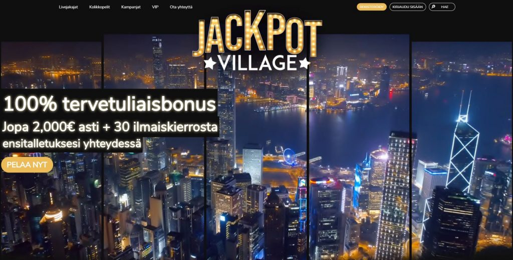 JackpotVillage Casinon etusivu