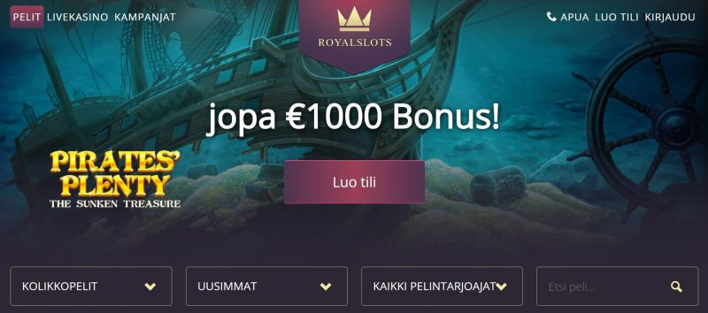 Royal Slots Casinon etusivu