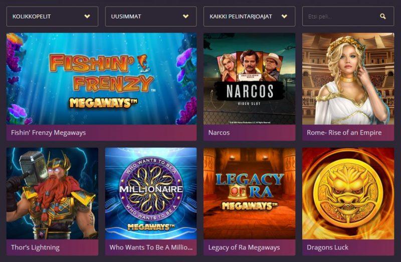 Royal Slots kasinon uusimmat pelit
