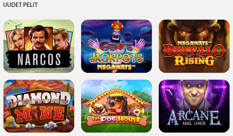 Uudet pelit West Casinolla