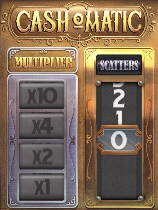 Cash-o-Matic voittokerroin- ja scatter-mittarit
