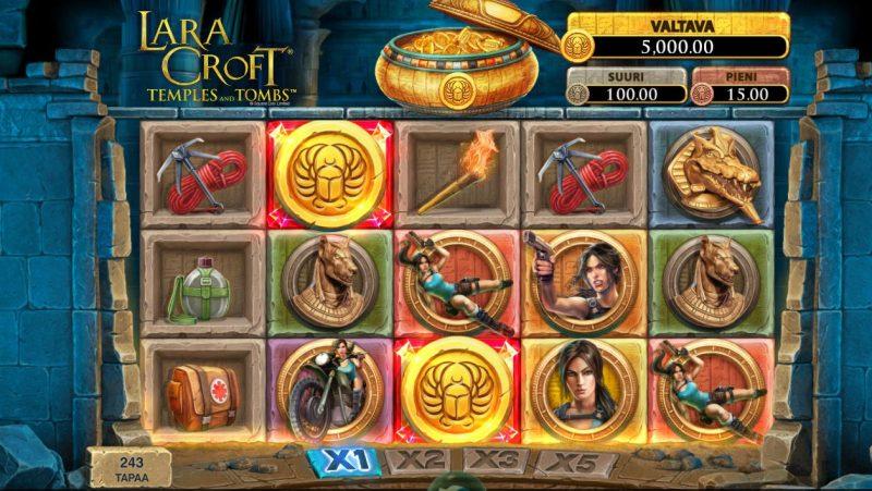 Lara Croft Temples and Tombs pelinäkymä