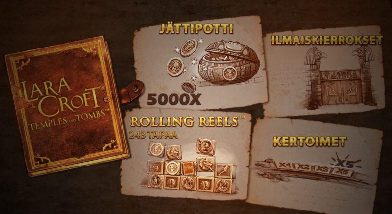 Lara Croft Temples and Tombs pelin alkunäyttö