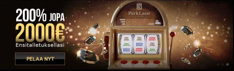 Parklane Casinon ensitalletusbonus