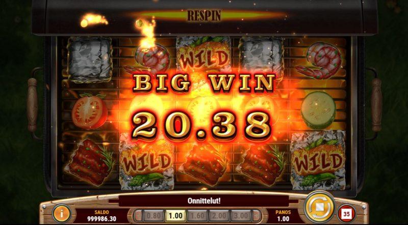 Iso voitto Sizzling Spins -pelissä