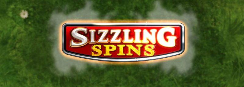 Sizzling Spins -pelin alkunäyttö