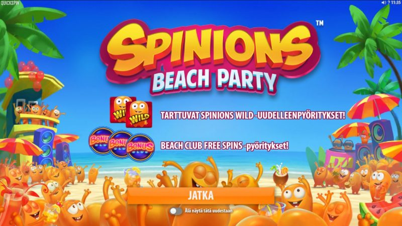 Spinions Beach Party -slotti