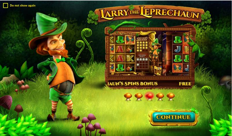 larry the leprechaun erikoistoiminnot