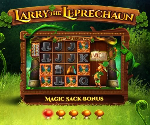 larry the leprechaun magic sack bonuspeli