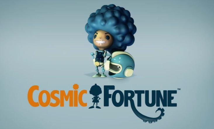 Cosmic Fortune intro ja logo