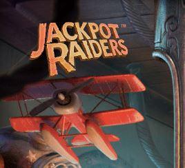 Jackpot raiders logo ja lentokone