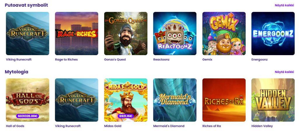 Wildz casino pelikategoriat