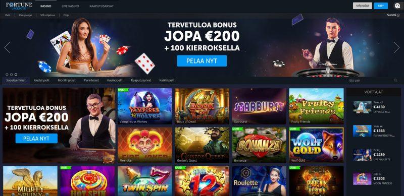 fortune jackpots casino etusivu