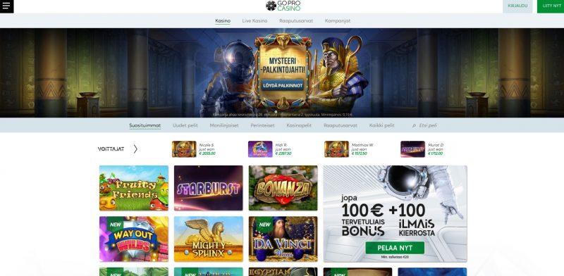 gopro casino etusivu