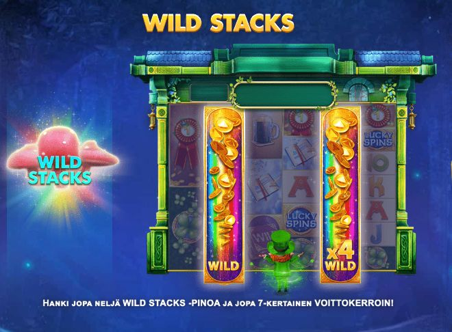 golden leprechaun megaways wild stacks toiminto