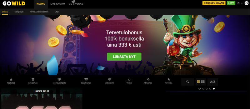 go wild casino etusivu