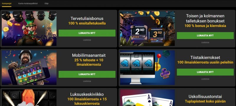 go wild casino kampanjat