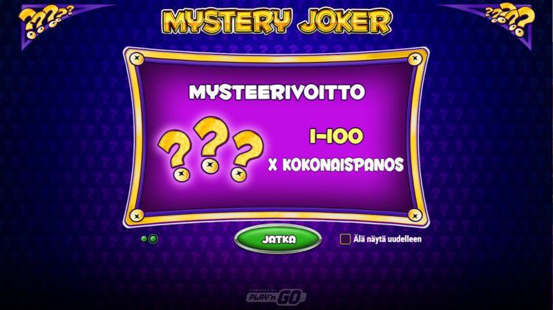 mystery joker ilmaiskierrokset