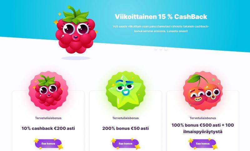 nomini casino kampanjat cashback hedelmät