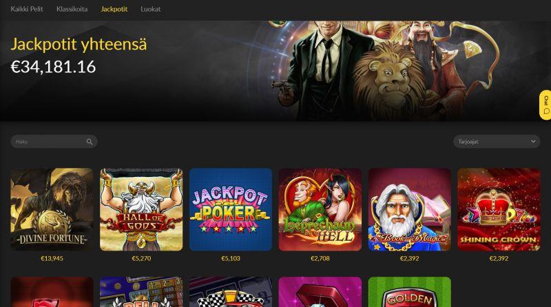 loki casino jackpot-pelit