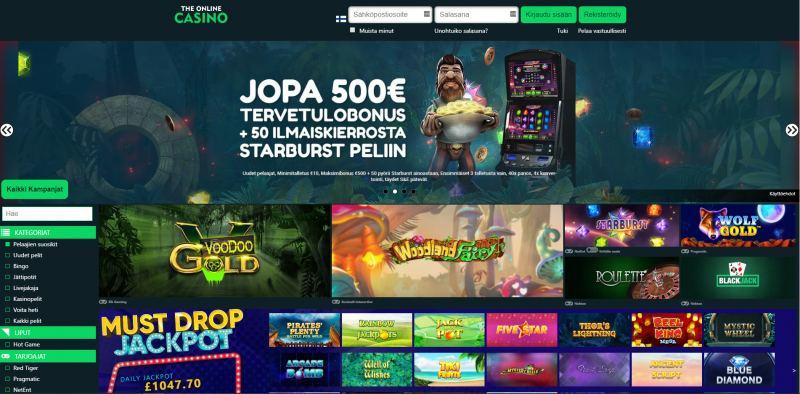 the online casino etusivu