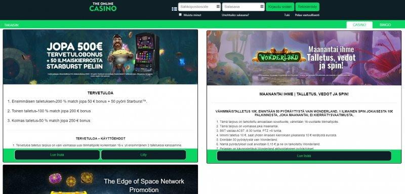 the online casino kampanjat ja tarjoukset
