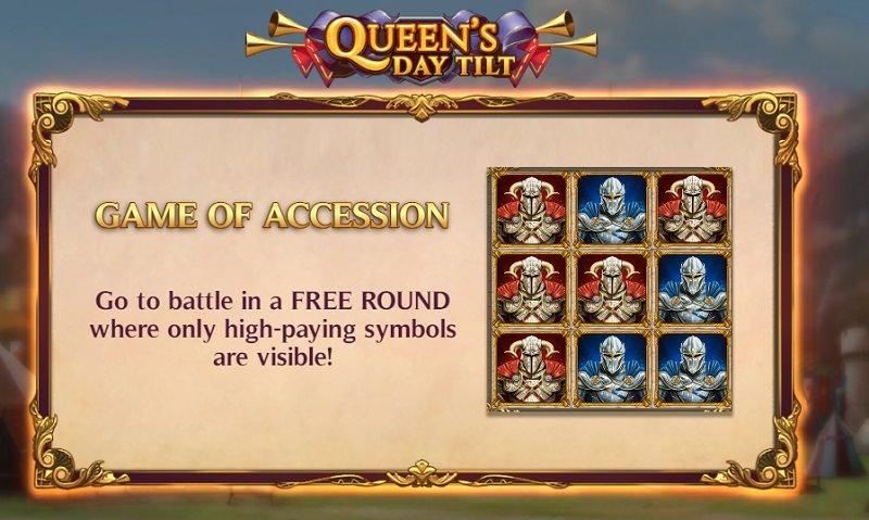 queen's day tilt erikoistoiminto game of accession