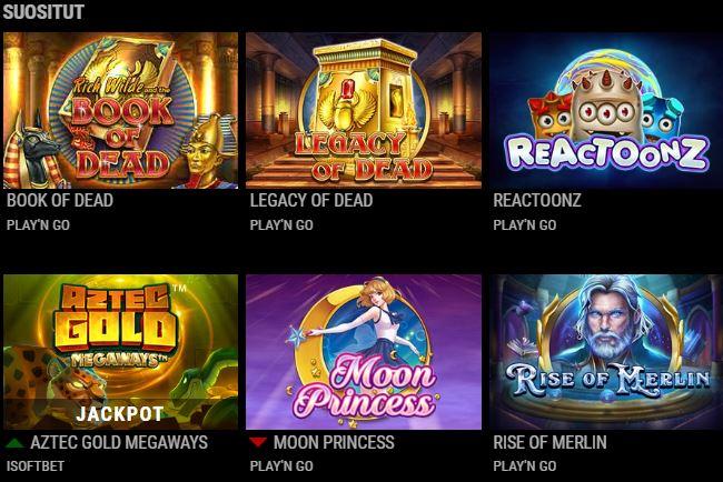 Vips Casino suositut pelit