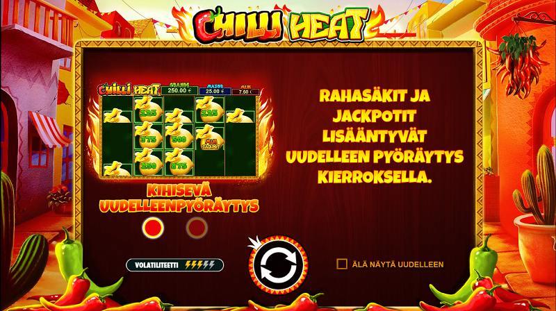 chilli heat arvostelu rahasäkit ja jackpotit