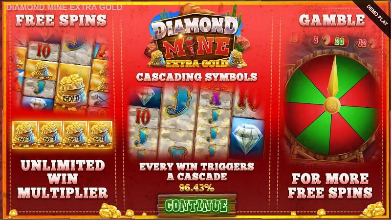diamond mine extra gold peli erikoistoiminnot