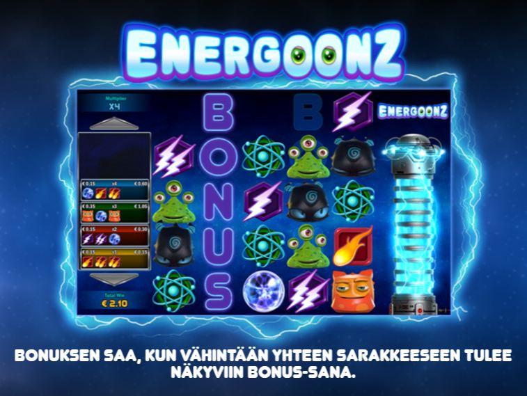 energoonz arvostelu bonuspeli