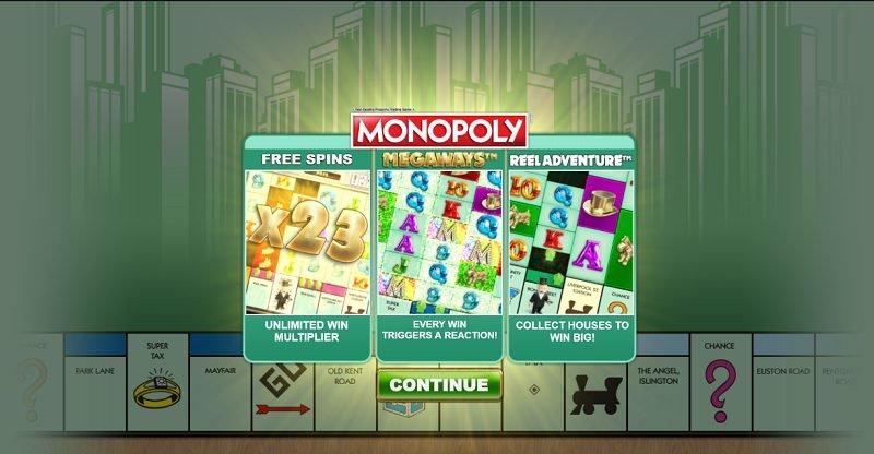 monopoly megaways erikoistoiminnot