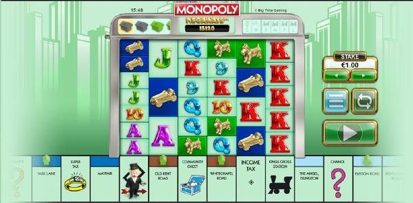 monopoly megaways peruspeli
