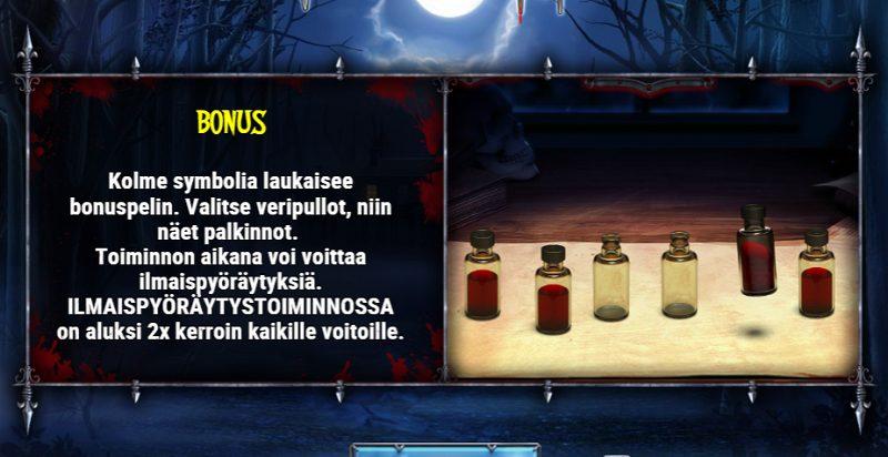 wild blood arvostelu bonuspeli