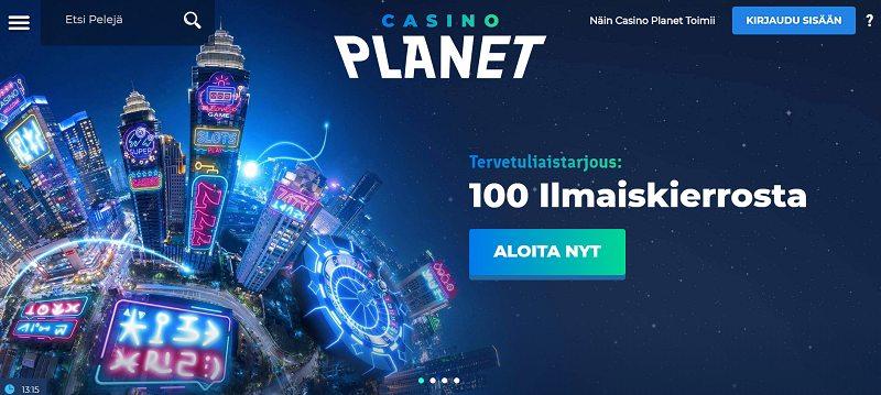 casino planet etusivu ilmaiskierroksia