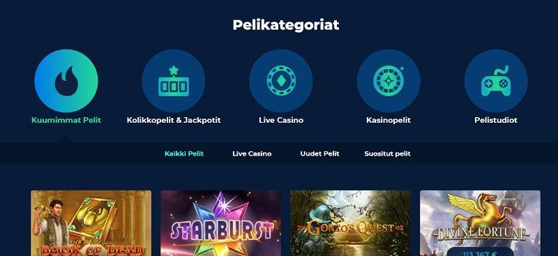 casino planet pelivalikoima