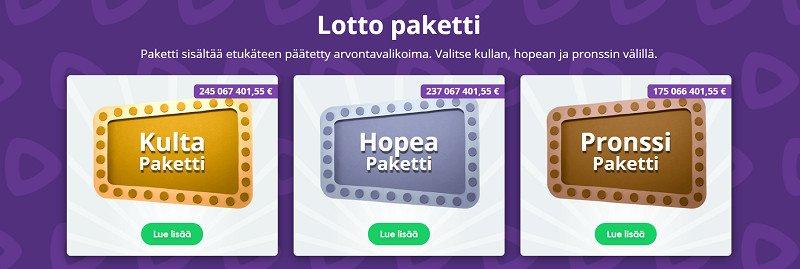 speedy lotto bonukset lottopaketit
