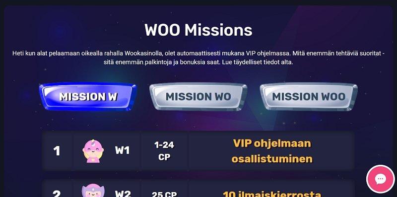 woo casino vip ohjelma