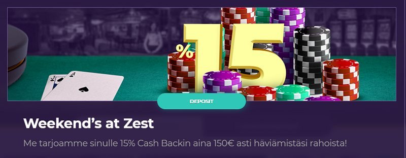 betzest casino viikonloppu cashback