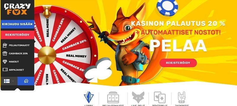 crazy fox casino etusivu