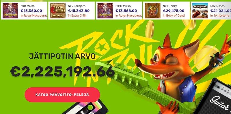 crazy fox casino arvostelu jackpotit