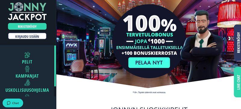 jonny jackpot casino etusivu