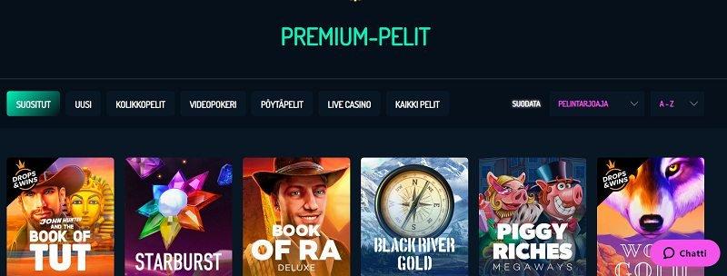 neonvegas casino pelivalikoima premium pelit